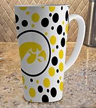 Memory Company Gameday NCAA University of Iowa 16-oz. Polka Dot Latte Mug
