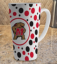 Memory Company Gameday NCAA University of Maryland 16-oz. Polka Dot Latte Mug