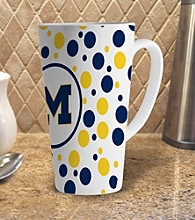 Memory Company Gameday NCAA Univeristy of Michigan 16-oz. Polka Dot Latte Mug