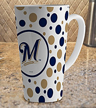 Memory Company Gameday MLB Milwaukee Brewers 16-oz. Polka Dot Latte Mug