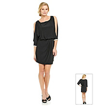Marina Cold-Shoulder Blouson Dress