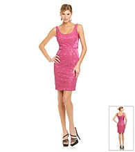JAX® Lace And Satin Color Block Dress