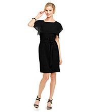 Vince Camuto® Shift Dress With Square Draping
