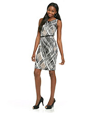 Evan-Picone® Print Belted Sheath Dress