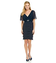 Jessica Howard® Jewel Trim Chiffon Shutter Dress
