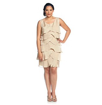 London Times® Plus Size Artichoke Shutter Dress