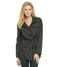 Relativity® Patch Pocket Hidden Anorak Coat