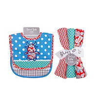 Trend Lab 2-pk Mommy's Little Monster Bib and Burp Cloth Set