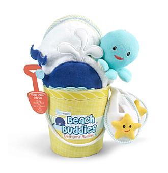 "Baby Aspen ""Beach Buddies"" 3-pc. Bathtime Bucket Gift Set"