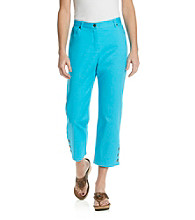 Ruby Rd.® Side Elastic Colored Capri Pant