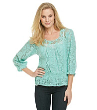 Nine West Vintage America Collection® Kari Lace Peasant Top