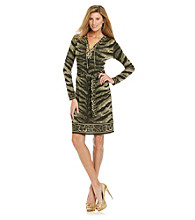 MICHAEL Michael Kors® Tiger Print Chain Lace Up Dress