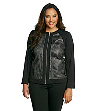 Calvin Klein Plus Size Zipper-Front Jacket