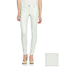 Fire® Juniors' Dot Print Skinny Jeans