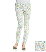 Fire® Juniors' Floral Stripe Skinny Jeans
