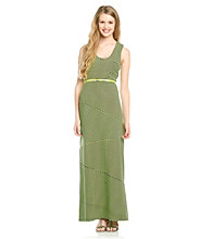 Sequin Hearts® Juniors' Belted Stripe Maxi Dress