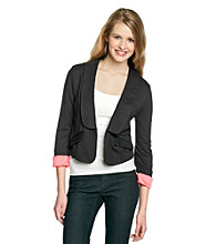 Sequin Hearts® Juniors' Roll Cuff Jacket