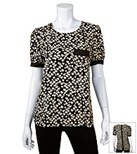 A. Byer Juniors' Heart Print Top
