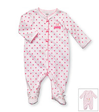 Carter's® Baby Girls' White/Pink Dots Easter Bunny Footie