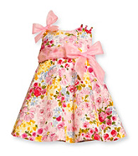 Bonnie Jean® Girls' 2T-4T Pink Floral Glitter Dress