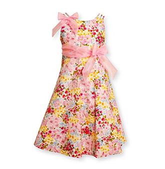 Bonnie Jean® Girls' 4-6X Pink Floral Glitter Dress