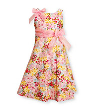 Bonnie Jean® Girls' 4-6X Pink Floral Glitter Dress