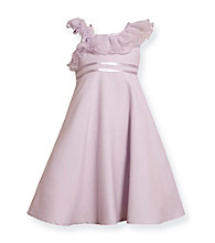 Bonnie Jean® Girls' 2T-6X Lavender One Shoulder Empire Dress