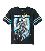 Batman® Boys' 4-7 Black Short Sleeve Dark Knight Tee