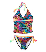 Mambo® Girls' 4-16 Rainbow Foil 2-pc. Tankini Swimsuit