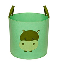 Delta Felt Storage Bin with Handles - Hush Green Hippo