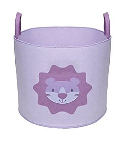 Delta Felt Storage Bin with Handles - Lavender Lion