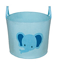 Delta Felt Storage Bin with Handles - Baby Blue Elephant