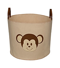 Delta Felt Storage Bin with Handles - Beige Monkey