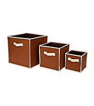 Delta 3-pk. Nesting Storage Bins - Chocolate