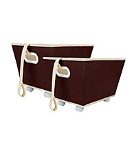 Delta 2-pk. Storage Bins on Wheels - Chocolate