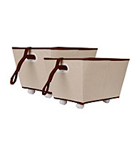 Delta 2-pk. Storage Bins on Wheels - Beige