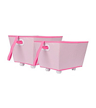 Delta 2-pk. Storage Bins on Wheels - Barely Pink