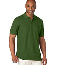 Chaps® Men's Big & Tall Campus Green Short Sleeve Polo