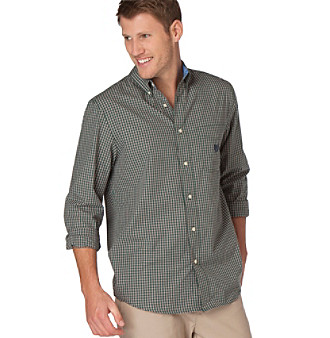 Chaps® Men's Big & Tall Grandfalls Check Woven Shirt