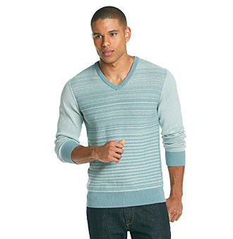 Calvin Klein Men's Colorblock Stripe Sweater
