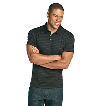 Calvin Klein Men's Short Sleeve Liquid Striped Polo