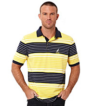 Nautica® Men's Sunfish Yellow Short Sleeve Striped Polo
