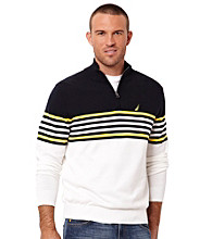 Nautica® Men's Sail White Quarter Zip Sweater