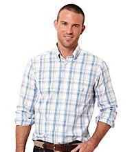 Nautica® Men's Regatta Blue Long Sleeve Plaid Woven Top