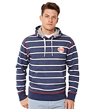 Nautica® Men's Lapis Blue Stripe Knit Hooded Sweatshirt