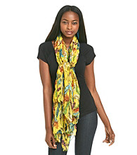 Basha Feather Print Neckwrap
