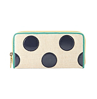 Fossil® Navy Dot Key-Per Zip Clutch