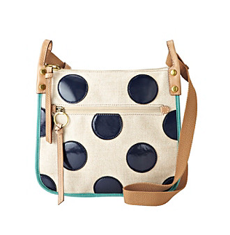 Fossil® Navy Dot Key-Per Crossbody