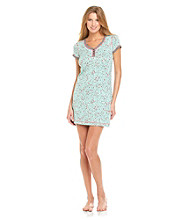DKNY® Knit Sleepshirt - Mint Hearts