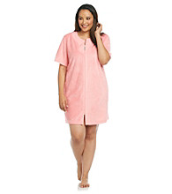 Jasmine Rose® Plus Size Short Zip Robe